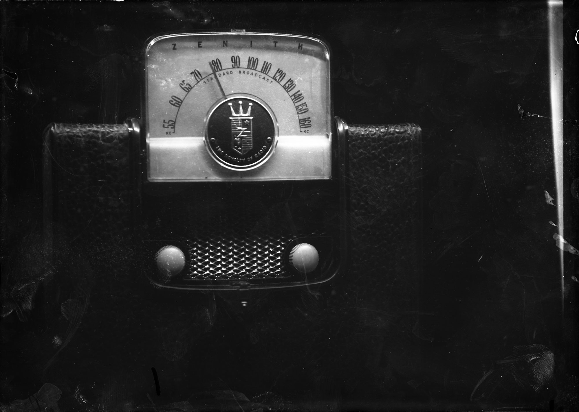 dry plate shot of a Zenith radio