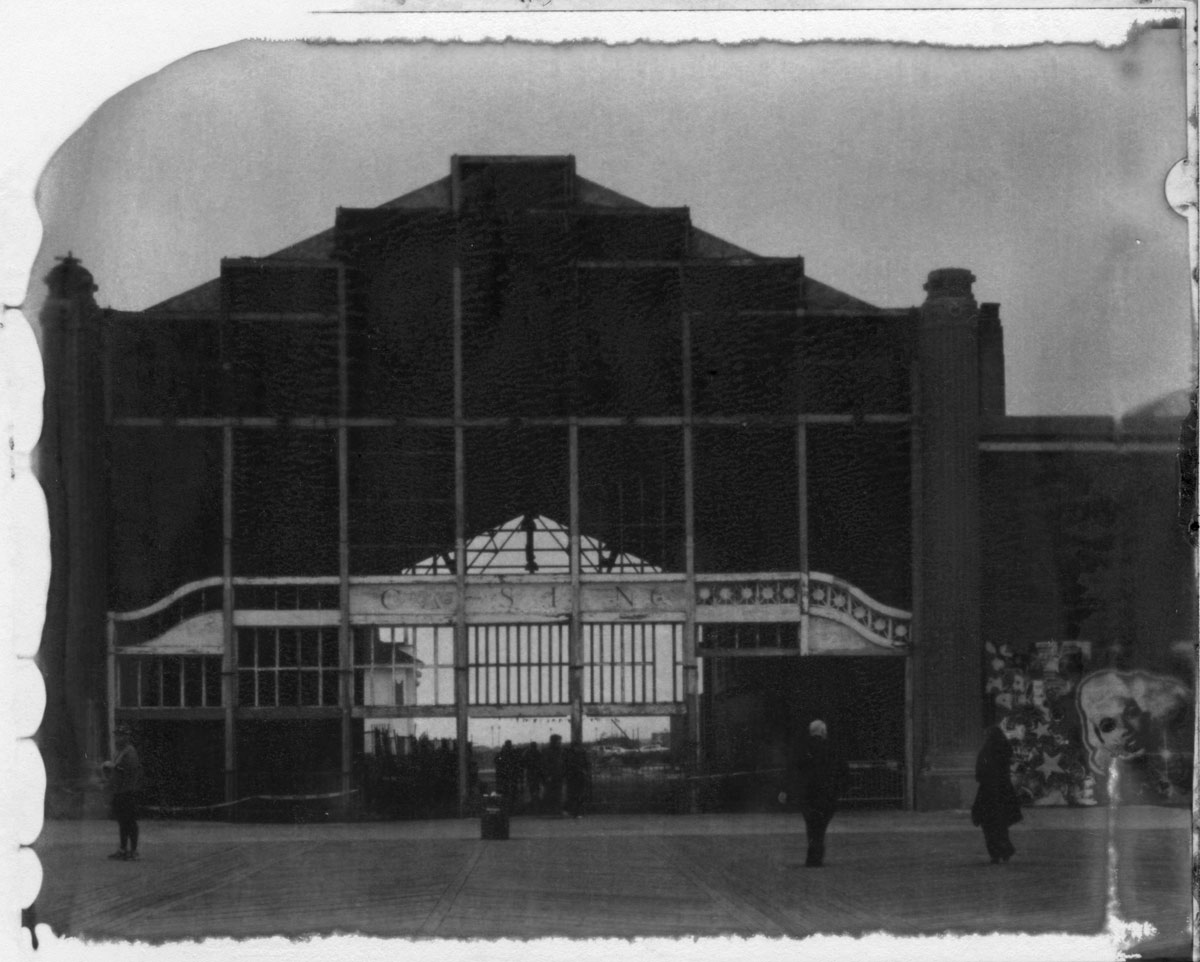 Scan of the print of a New55 photo of the Casino in Asbury Park