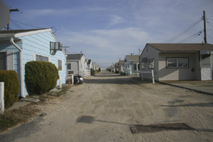 rows of beach houses on the Jersey Shore