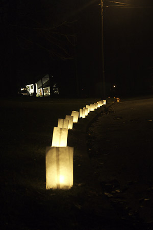 Luminaries in a row