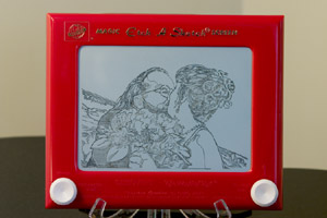 Etch-A-Sketch rendering of the previous photograph