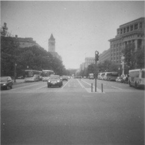 Pennsylvania Avenue, Washington D.C., from the middle of the street